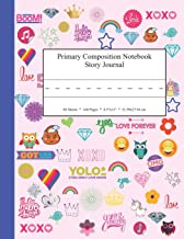 Primary Composition Notebook Story Journal: Educational Writing and Drawing Handwriting Activity Workbook (Pink Word Collage)
