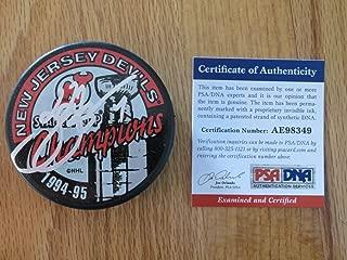 HOFer Scott Stevens Autographed Signed Memorabilia 94-95 New Jersey Devils Stanley Cup Puck PSA/DNA Ae98349