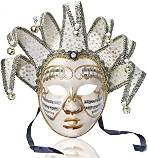 YU FENG Music Jester Venetian Mask Masquerade Mardi Gras Wall Decorative Art Collection