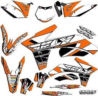 Senge Graphics kit compatible with KTM 2013-2014 SXF, Fly racing Orange Graphics Kit