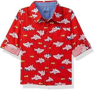 Amazon Brand - Jam & Honey Baby-Boy's Regular Fit Button Down Shirt