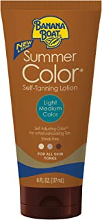 Banana Boat Self Tanning Lotion, Light/Medium Summer Color for All Skin Tones, Reef..