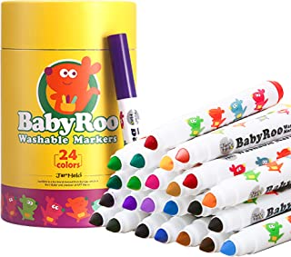 JarMelo JA90497 Washable Markers Baby Roo 24 Colors Craft