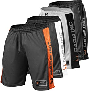 Men's Active Shorts Workout Gym Basketball with Pockets- 4 pack,XXL
