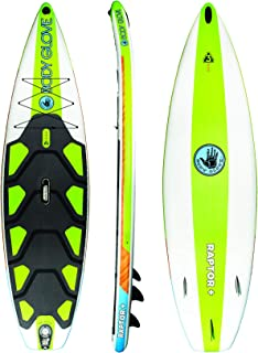 Body Glove Raptor Plus Inflatable Stand Up Paddle Board, Green/Wood, 10'8