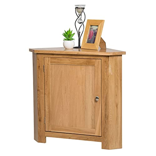 Hallowood Waverly 1 Door Small Corner Cabinet in Light Oak Finish  93476912b786