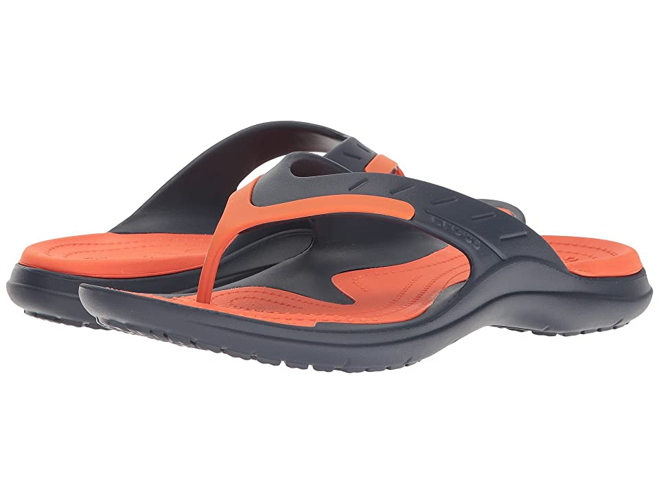 Crocs Modi Sport Flip (Navy/Tangerine) Men