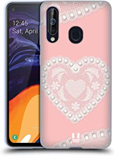 Head Case Designs Heart Laces and Pearls 2 Soft Gel Case Compatible for Samsung Galaxy A60 / M40 (2019)