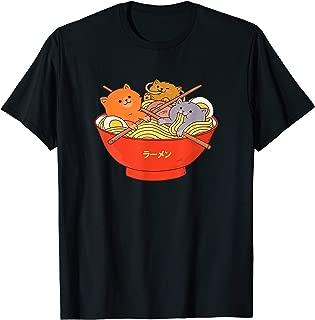 Kawaii Anime Cat Shirt Japanese Ramen Noodles Gift TShirt T-Shirt