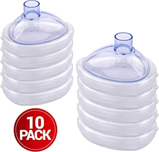 CPR Assistant Infant CPR Pocket Resuscitator Training Masks (Pack of 10) with Nylon Bag