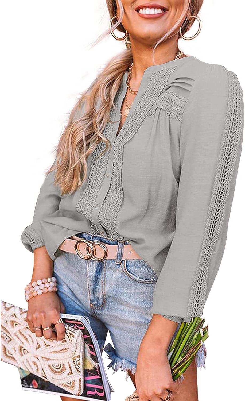 Award Soldering BESFLY Women's Button-Down Blouses Sleeve Chiffon T-Shirts Long