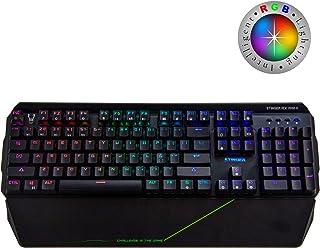 Woxter Stinger RX 2000 K - Teclado Gaming Mecánico, Estructura de Aluminio, Micro Switch, Led RGB Cada tecla, Cable de Nylon, Compatible PC/PS4/Fortnite/Apex LegendsWoxter Stinger RX 2000 K