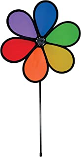 In the Breeze 12 Inch Rainbow Dazy Flower - Colorful Wind Spinner for your Yard and Garden