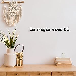 Vinyl Wall Art Decal - La Mágia Eres Tú / The Magic is You - 2