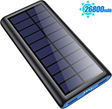 Solar Portable Charger 26800mAh, ?2020 Phone Charger? Power Bank External Backup Battery Pack with 2 Outputs Huge Capacity Backup Battery Compatible Smartphone,Tablet and More