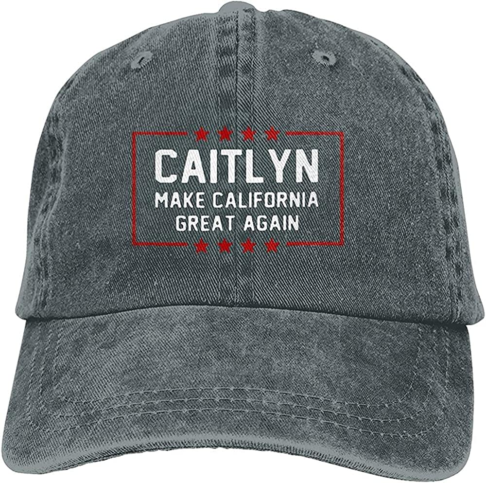 BGWORZD Fashion Caitlyn Make California Great Again Hat Unisex Baseball Cap Adjustable Comfortable Cowboy Hat Black