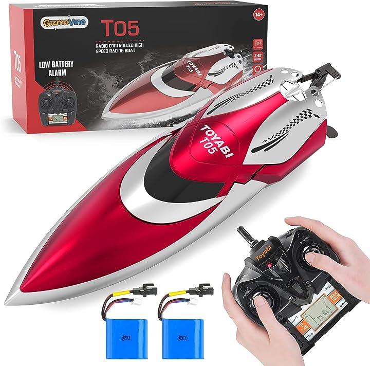 Barca telecomandata 2.4ghz barca da corsa rc ad alta velocità con 2 batterie gizmovine barca rc H106