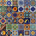 COLOR Y TRADICIÓN Mexican Tiles 4x4 Handpainted Hundred Pieces Assorted Designs