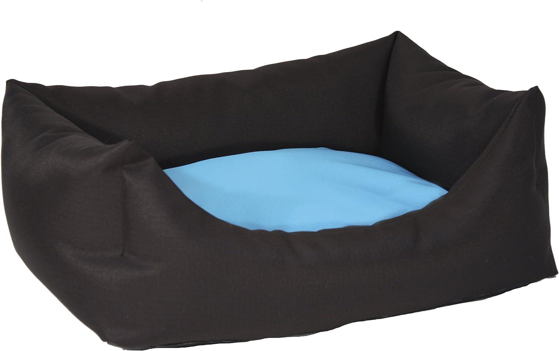 CROCI Pet Bed Ripstop, 85 x 70 cm, Sky bluee Black