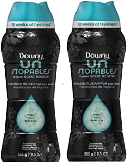 Downy Unstopables Fresh, in Wash Scent Booster, Jumbo Size Bottle, 31 Loads, 19.5 Oz (Pack of 2)