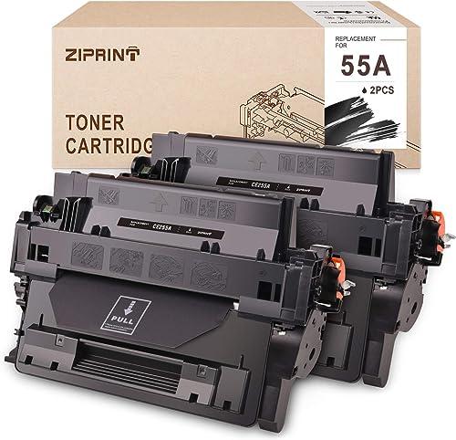 new arrival ZIPRINT Compatible Toner Cartridge Replacement for HP 55A CE255A Toner for HP Laserjet P3015 M521dn wholesale P3010 Enterprise 500 MFP M525f P3015n P3015dn P3015d M521dw online sale M525c M525dn P3015x (Black, 2 Pack) outlet online sale