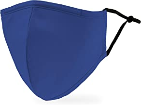 Weddingstar 3-Ply Adult Washable Cloth Face Mask Reusable and Adjustable with Filter Pocket - Royal Blue