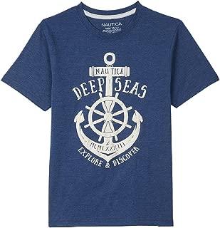 Nautica Boys 83748Q Short Sleeve Flag Crewneck Graphic Tee Short Sleeve T-Shirt