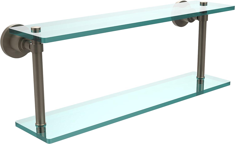 Allied Brass WS-2 22-Pew 22-Inch Double Glass Shelf