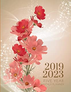 2019-2023 Five Year Planner Floral Flower Monthly Organizer With Bible Sermon Note: 60 Months Calendar; Agenda Appointment Diary; Mindfulness Journal ... Book, Julian Dates & Inspirational Quotes