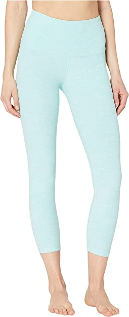 e40e3fa4e8 Beyond Yoga. High-Waisted Original Capri Leggings. $86.00. Island  Topaz/White
