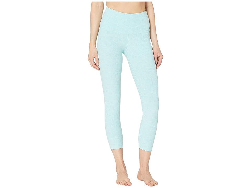 Beyond Yoga Spacedye High-Waisted Capri Leggings (Island Topaz/White) Women