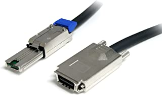 StarTech.com 2m Infiniband External SAS Cable - SFF-8470 to SFF-8470 - Serial Attached SCSI SAS Cable - 2x (4x) SFF-8470 (...