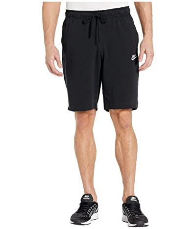 Nike NSW Club Shorts Jersey (Black/White) Men