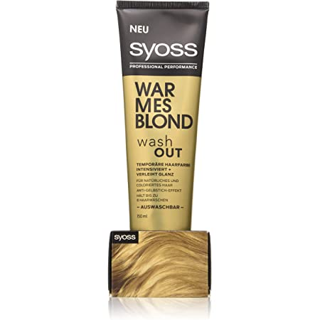 SYOSS Washout - Tinte temporal para el cabello (nivel 1, 150 ml)