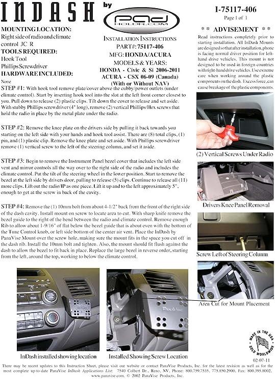 Padholder Edge Series Premium Tablet Dash Kit 2008-2009 Sterling Truck Bullet for iPad /& Other Tablets Pad Holdr PHE75105-506-3