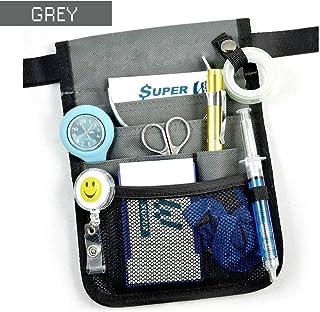 OZSTOCK® Nurse Pouch Extra Pocket Quick Pick Vet Agecare Bag with Belt Strap (Grey)