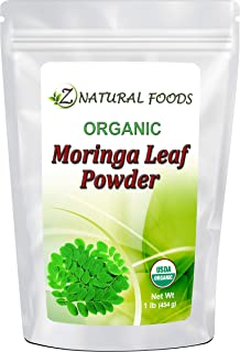 Organic Moringa Oleifera Leaf Powder - 100% Pure, Raw, Non GMO, Vegan & Kosher - Amazing In Smoothies, Drinks, Tea, Juice & Recipes - Energizing Green Superfood Packed With Vitamins & Minerals - 1 lb