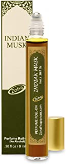 Indian Musk Perfume Oil Roll-On (No Alcohol) aka Majmua Fragrance Oil - Essential Oils and Perfumes for Women and Men by Zoha Fragrances, 9 ml / 0.30 fl Oz
