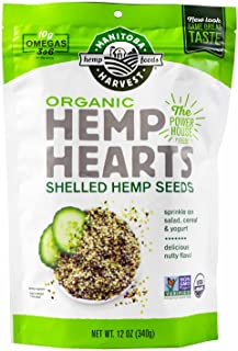 Manitoba Harvest Organic Hemp Hearts, 12 Ounce (Pack of 2)
