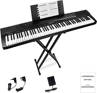 Vangoa Tastiera di pianoforte 88 tasti Tasto sensibile alla velocità Piano Digitale con supporto per tastiera, pedale, 16 ...