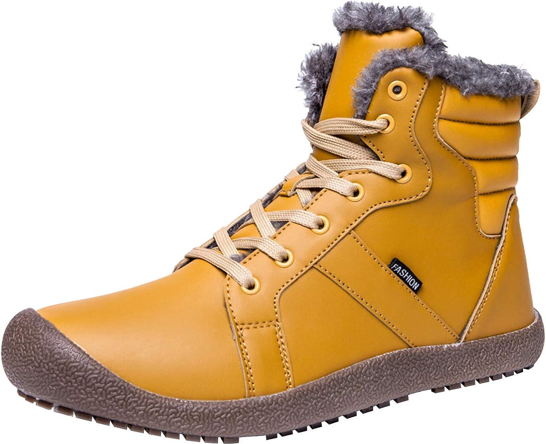 L-RUN Womens Winter Boots Waterproof Fur Snow Boots Ankle Booties Women