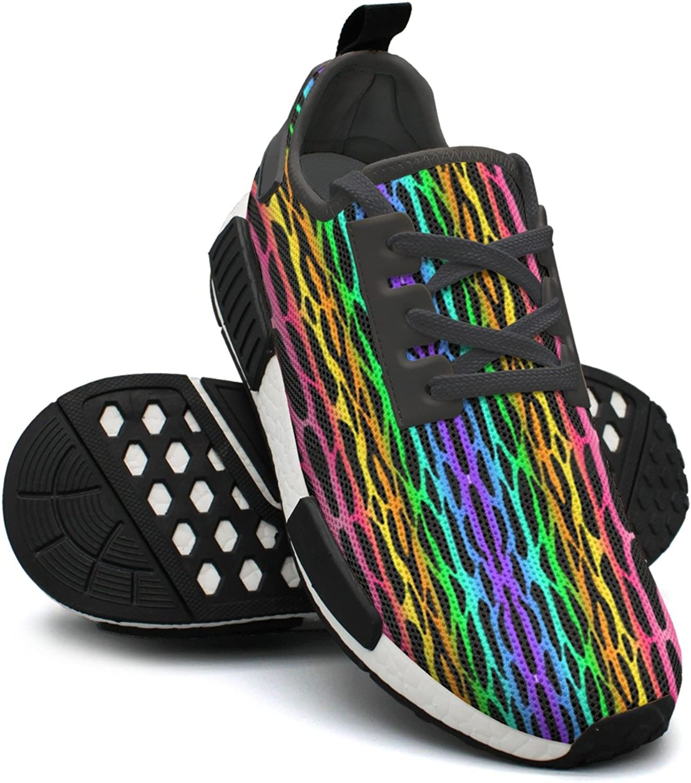 Rainbow Red bluee Green Yellow Zebra Workout Gym Running shoes Women NMD