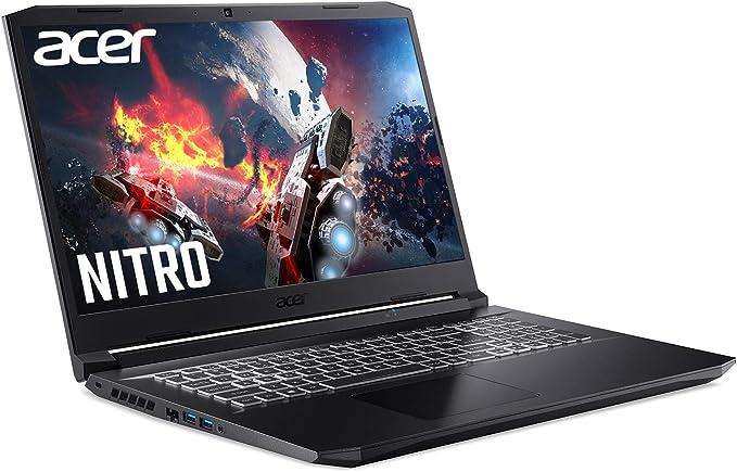 Acer Nitro 5 AN517-41 17.3 inch Gaming Laptop (AMD Ryzen 7 5800H, 16GB RAM, 1TB SSD, NVIDIA RTX 3060, QHD 165Hz Display, Windows 10, Black)
