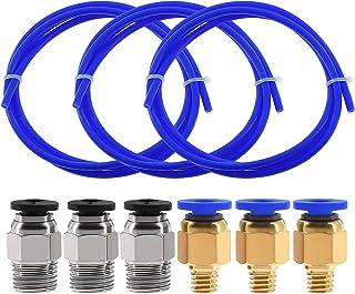Twotrees 3 STKS (1M) PTFE tubing blauwe Teflon buizen met 3 PCS PC4-M6 pneumatische connectoren en 3 PCS PC4-M10 connector...