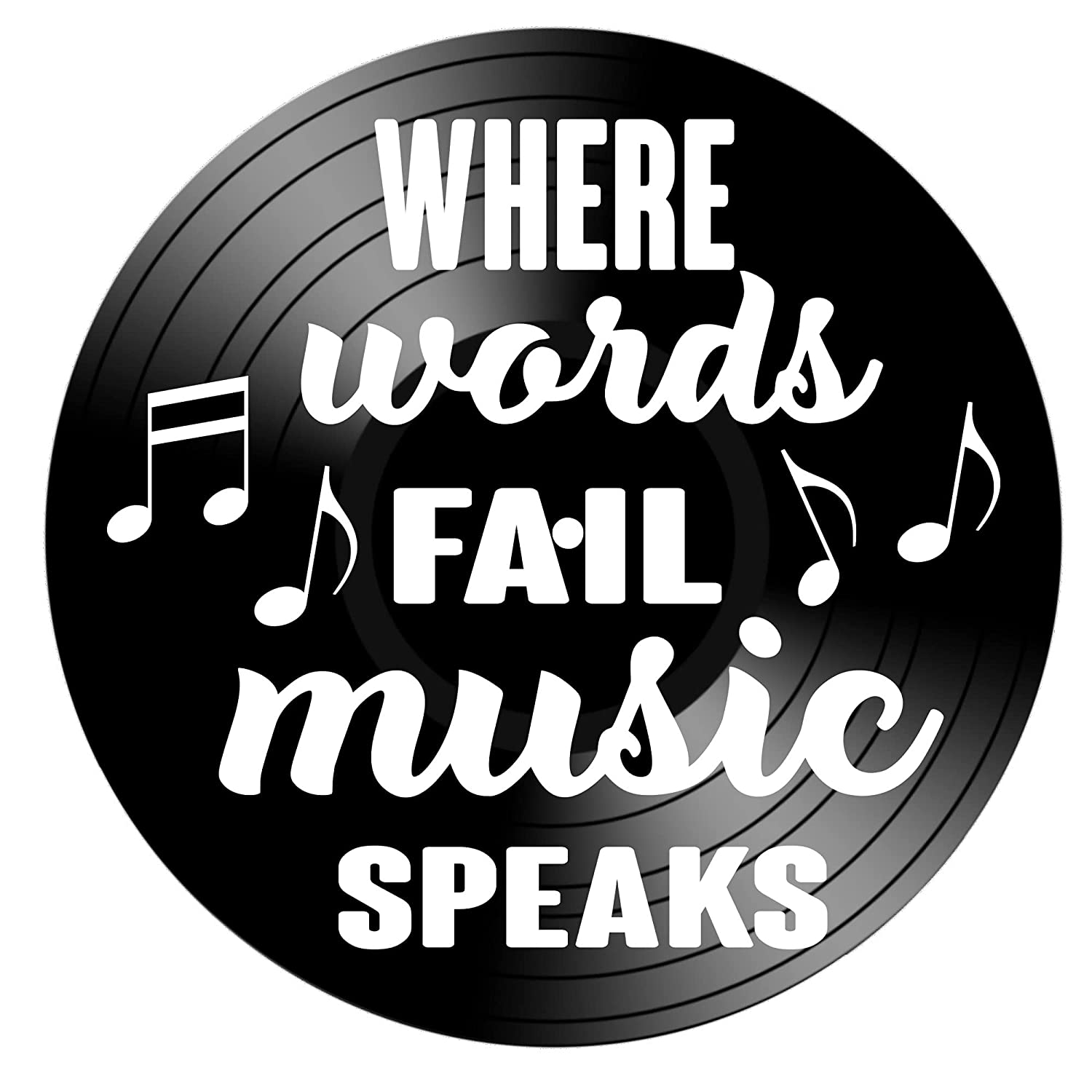 Where Words Fail Music New item Speaks Tucson Mall quote Upcycle Real a on Repurposed