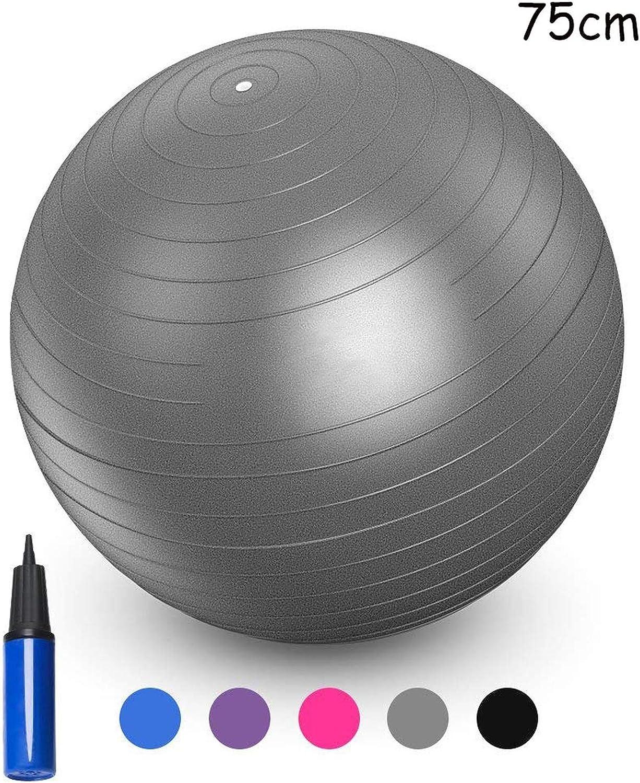 Sports Yoga Balls Bola Pilates Fitness Gym Balance Fitball Exercise Pilates Workout Massage Ball 55Cm 65Cm 75Cm 85Cm,75Cm Grey