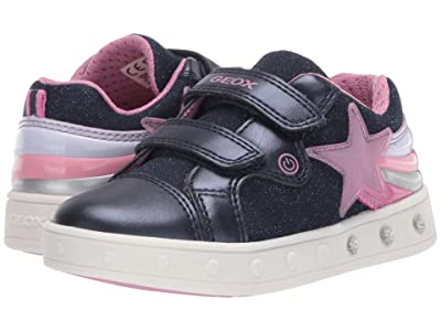 Geox Kids Skylin 5 (Toddler/Little Kid) (Navy) Girl