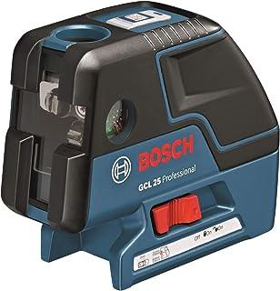 Bosch Professional GCL 25 - Nivel láser combinado (alcance 10 m, 2 líneas + 5 puntos, láser rojo, trípode, con funda, en caja)