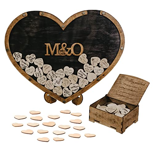 popular Wedding Guest Book Alternative, online sale Heart Drop Guest Book, Heart Frame Wedding Guest Book, Guest Book Sign, Rustic Wedding online sale Decor, Wooden Drop Box online