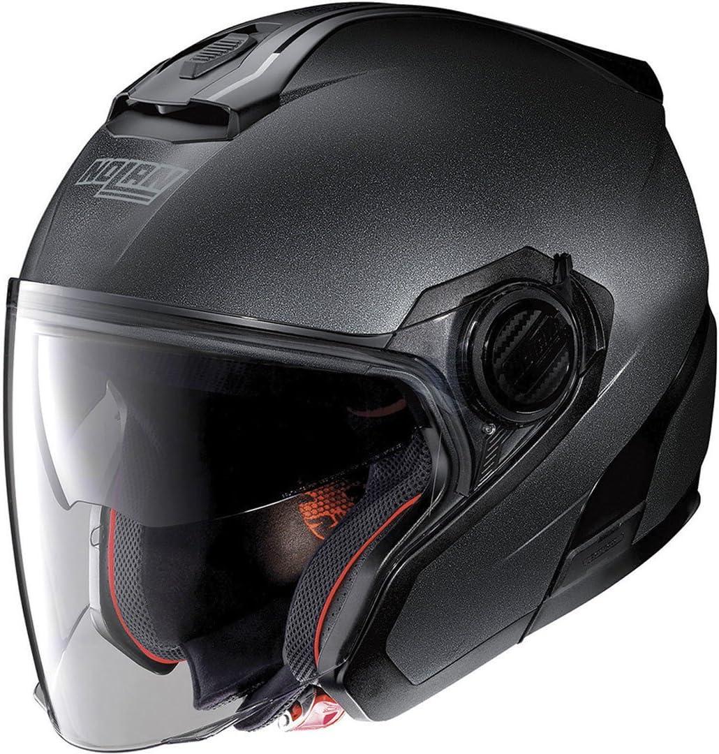 Nolan N40 5 Special N Com Motorradhelm Graphitschwarz Größe M N450004200092 Black Graphite Auto